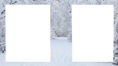 neige 2 photos