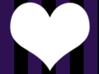 Coeur Violet Et Noir