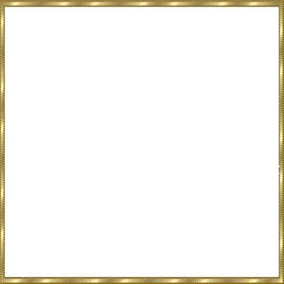 cadre carré doré