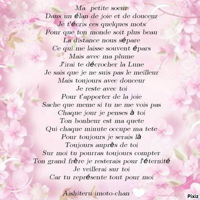 Montage Photo Poeme Pour Petite Soeur Pixiz