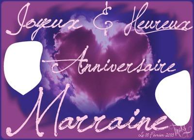Montage Photo Bon Anniversaire Marraine Pixiz
