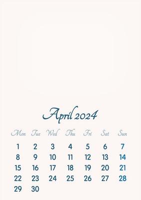 April 2024 // 2019 to 2046 // VIP Calendar // Basic Color // English