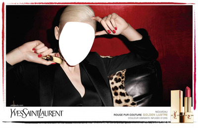 Yves Saint Laurent Rouge Pur Couture Golden Lustre Lipstick Advertising 2
