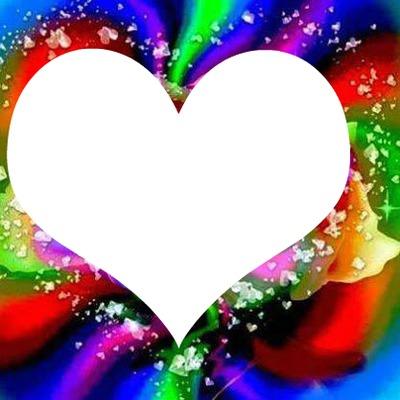 1 coeur arc en ciel 1 photo