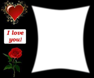 I love you rose heart