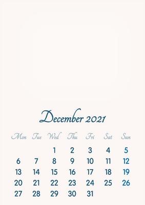 December 2021 // 2019 to 2046 // VIP Calendar // Basic Color // English