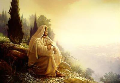 jesus en el monte de los olivos