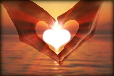 mains d'amour 1 cadre photo coeur
