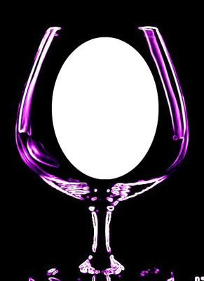 hdh-wine glass purple neon