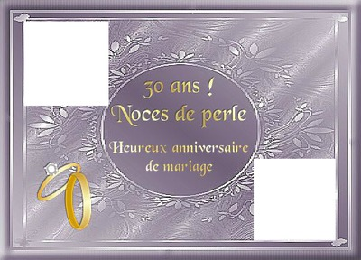 anniversaire de mariage 30 ans