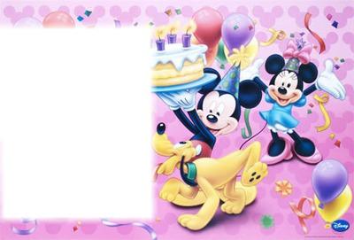 Carte Anniversaire Mickey.Montage Photo Anniversaire Mickey Pixiz