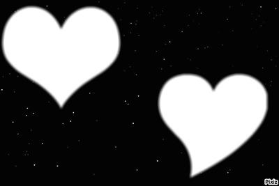 coeur sur bo fond noir