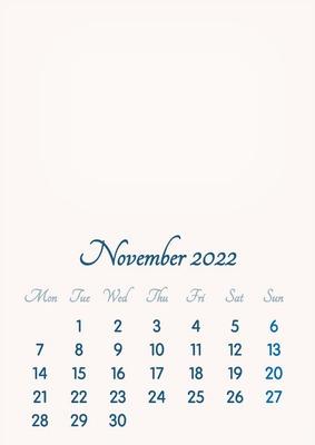 Calendar November 2022.Photo Montage November 2022 2019 To 2046 Vip Calendar Basic Color English Pixiz