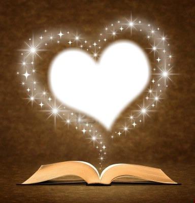 livre ouvert et coeur