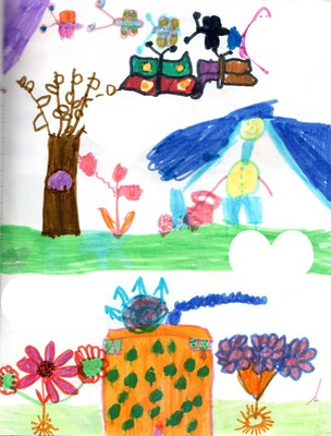 Dessin d'enfant -4 photos