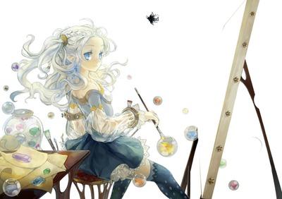 Jeune fille qui peint