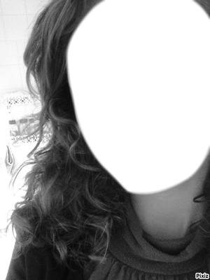 visage en noir et blanc