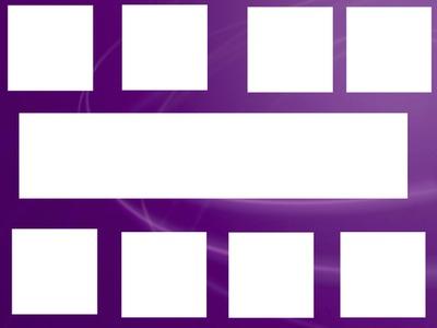Cadre 9 photos violet