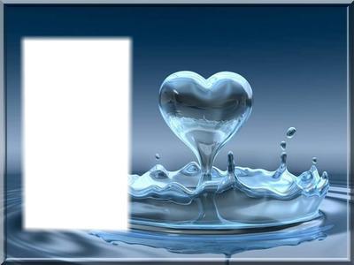 gouttes d'eau coeur