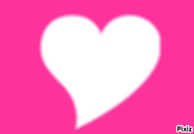 coeur fond rose