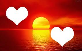 El amor en una puesta de sol