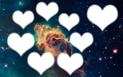 coeur   dans le ciel de galaxie