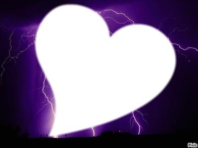 Orage derrière le Coeur