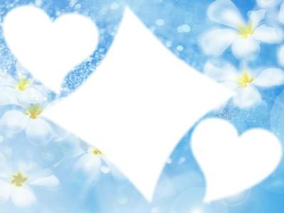 fleurs dans les nuages