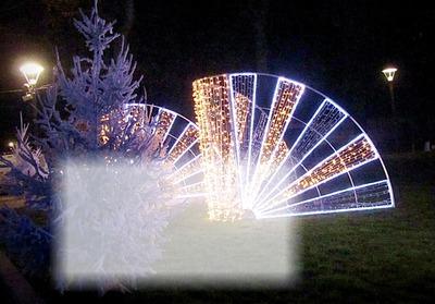 cadre 1 photo décor Noël éventail lumineux