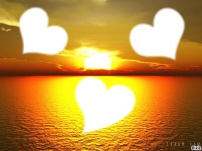 couche de soleil coeur
