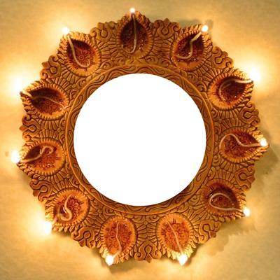 Diwali fény kör