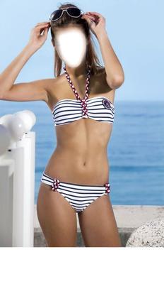 bikini-bandeau-rayé