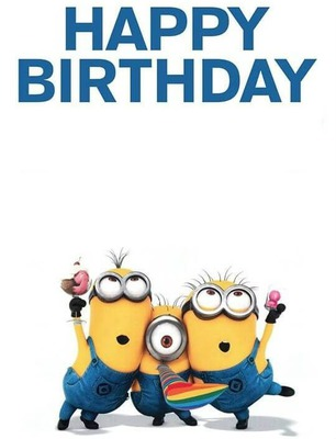 Photo montage Happy Birthday minion - Pixiz