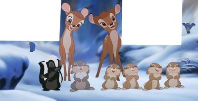 2 cadres photo bambi