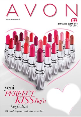 Photo Montage Avon Katalog 2013 Perfect Kiss Ruj Pixiz