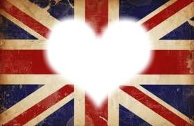 coeur avec le drapeau anglais