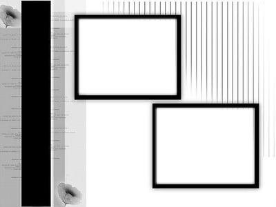 2 photos noir et blanc, gris