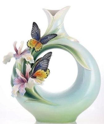 Cc jarrón orquídeas,mariposas