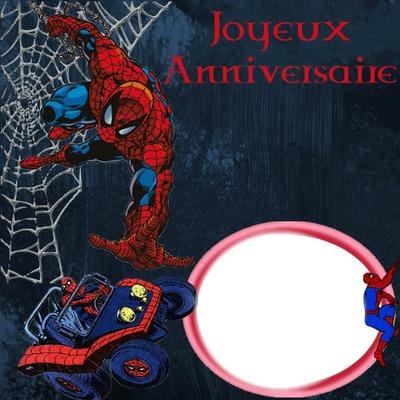 Montage Photo Anniversaire Spider Man Pixiz