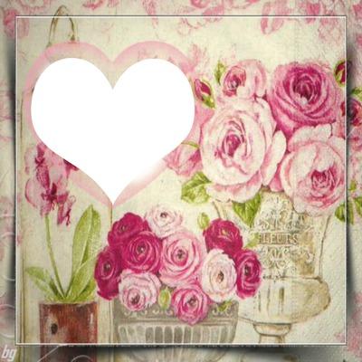 cadre fleuri pastel 1photo