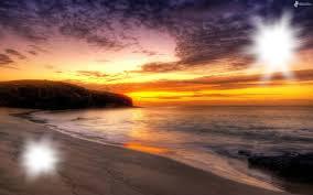coucher de soleil ( sur la plage )