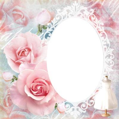 cadre avec des roses