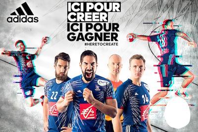Adidas Ici pour Créer ici pour Gagner Equipe de France de Handball
