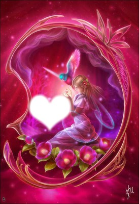 un coeur rouge