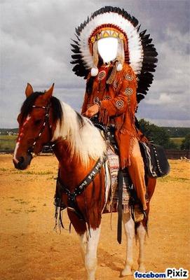 Montage photo indien cheval pixiz - Dessin anime indien cheval ...