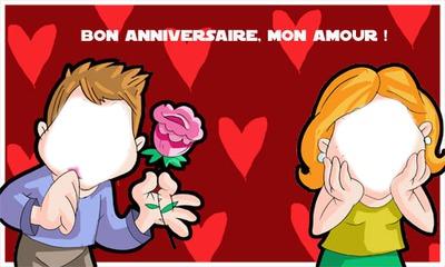 Montaje Fotografico Bon Anniversaire Mon Amour Pixiz