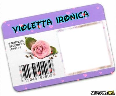 Carteirinha de fã da Violetta Irônica