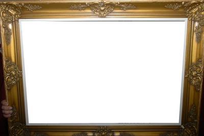 Cadre tableau en or