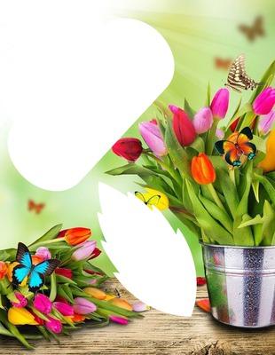bouquet de fleurs fond vert!!!