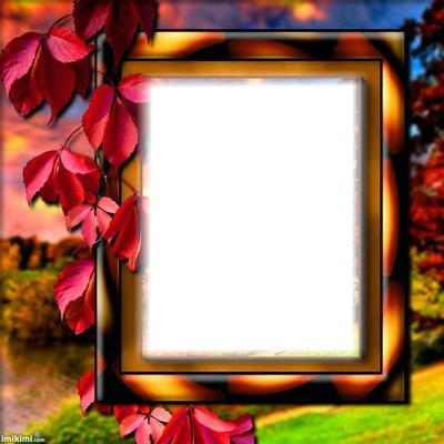 Cadre paysage automne